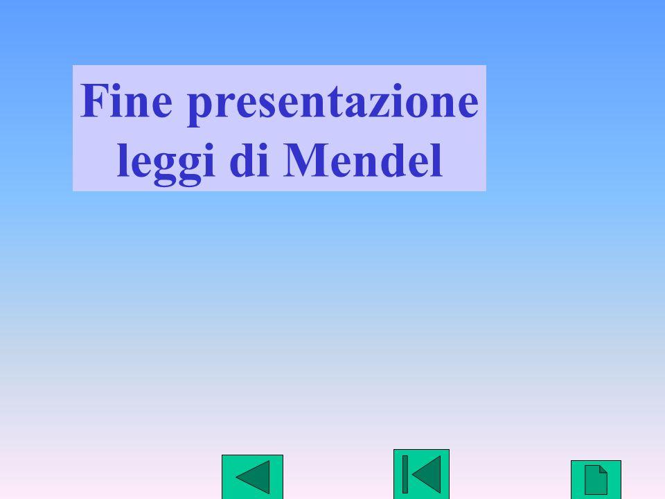 Fine presentazione leggi di Mendel