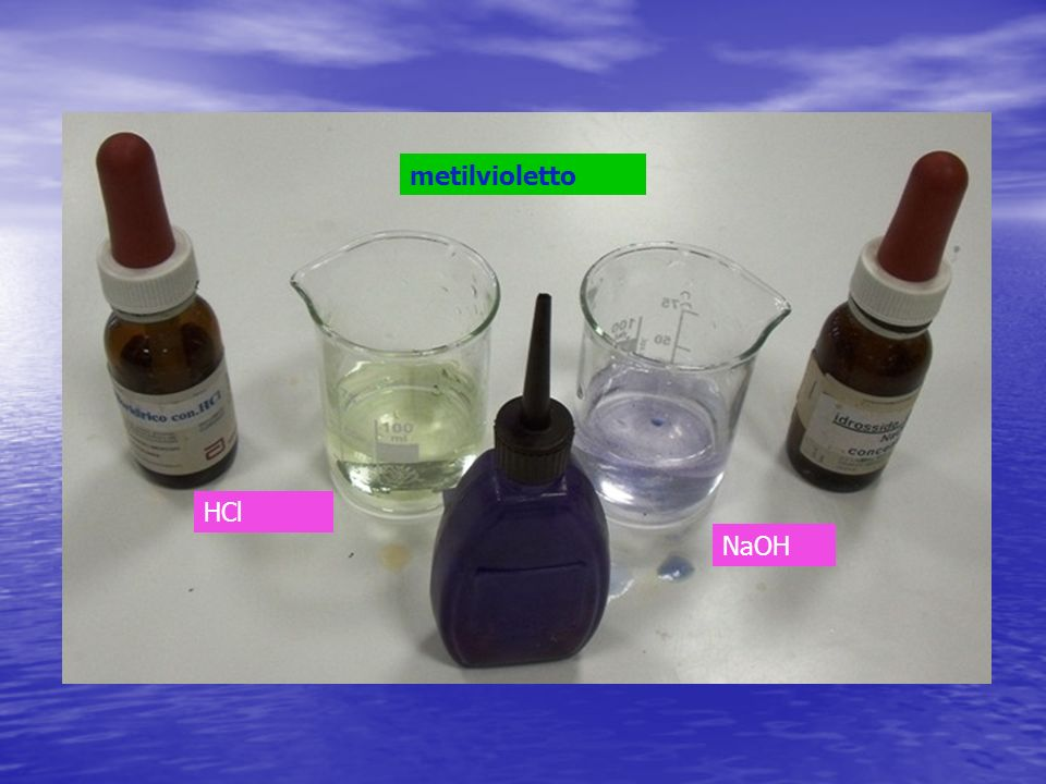 metilvioletto HCl NaOH