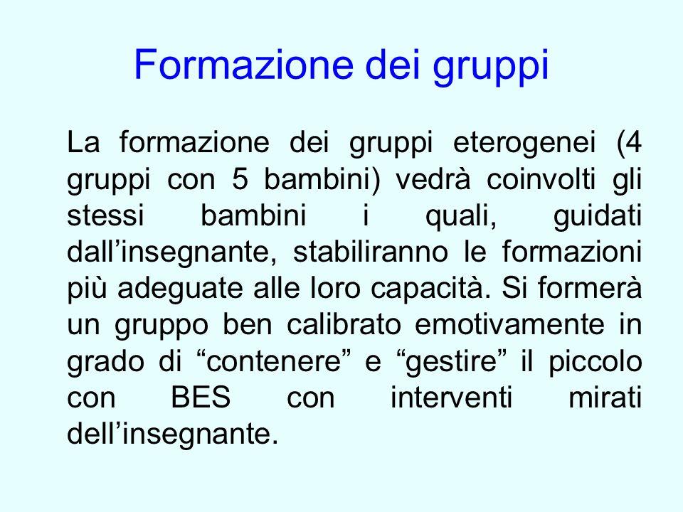 Formazione dei gruppi