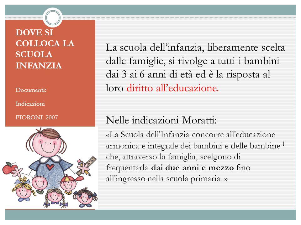 Nelle indicazioni Moratti: