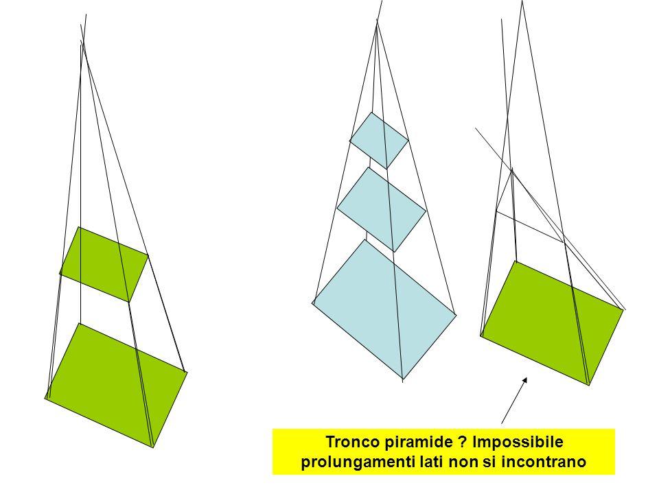 Tronco piramide Impossibile prolungamenti lati non si incontrano