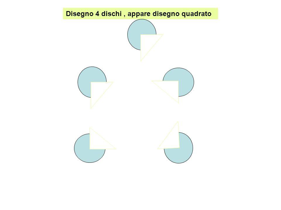 Disegno 4 dischi , appare disegno quadrato