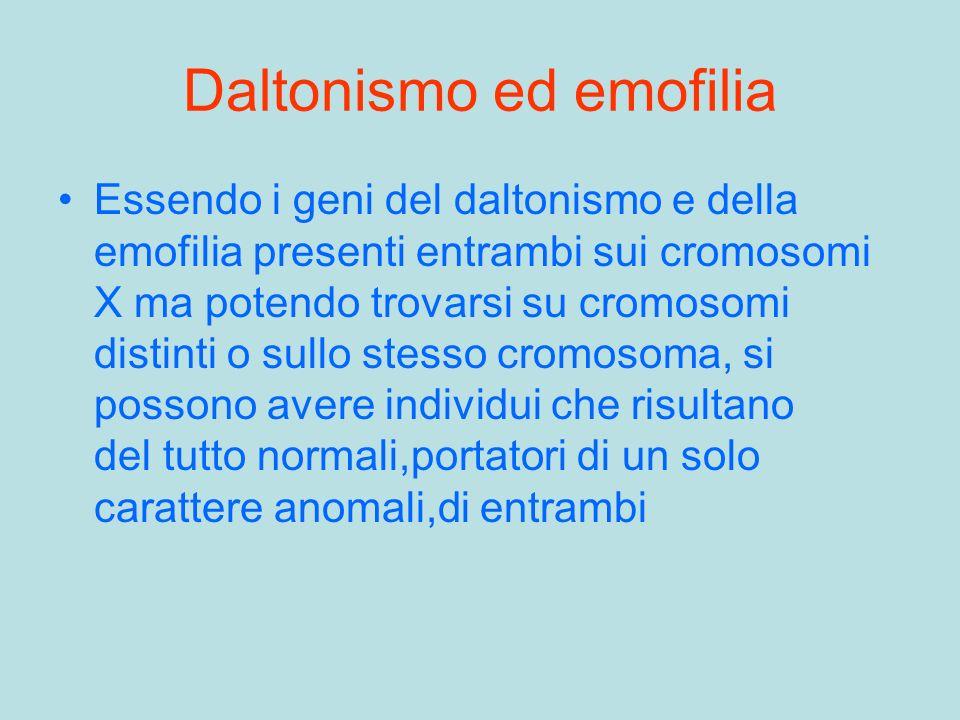 Daltonismo ed emofilia