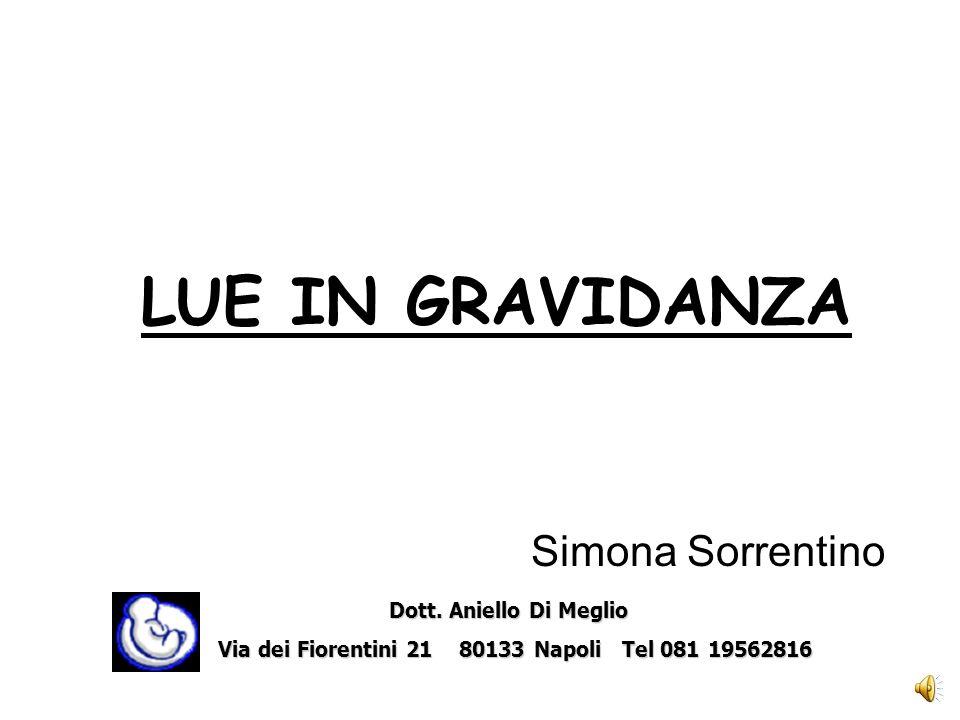 LUE IN GRAVIDANZA Simona Sorrentino Dott. Aniello Di Meglio