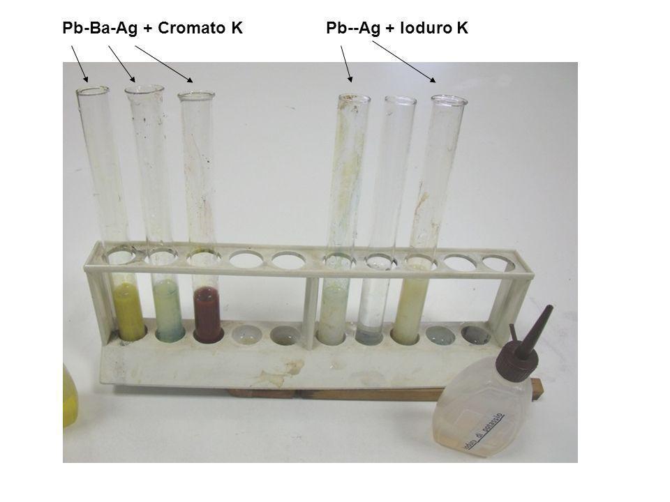 Pb-Ba-Ag + Cromato K Pb--Ag + Ioduro K