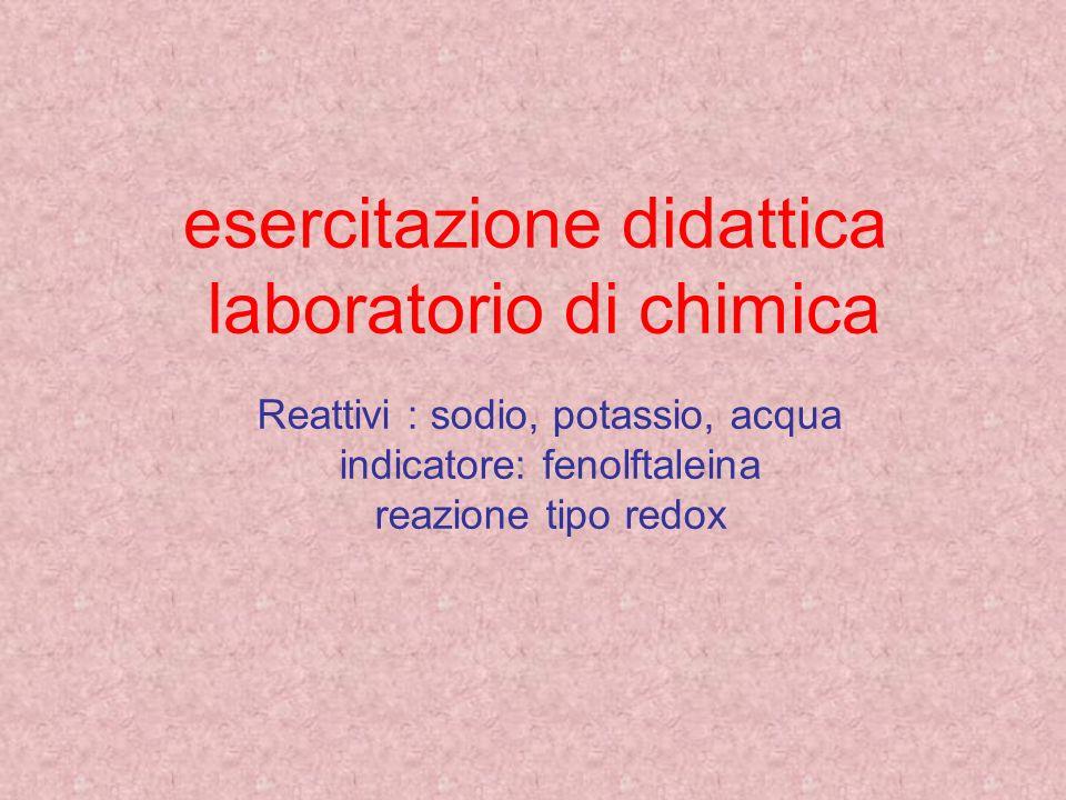 esercitazione didattica laboratorio di chimica