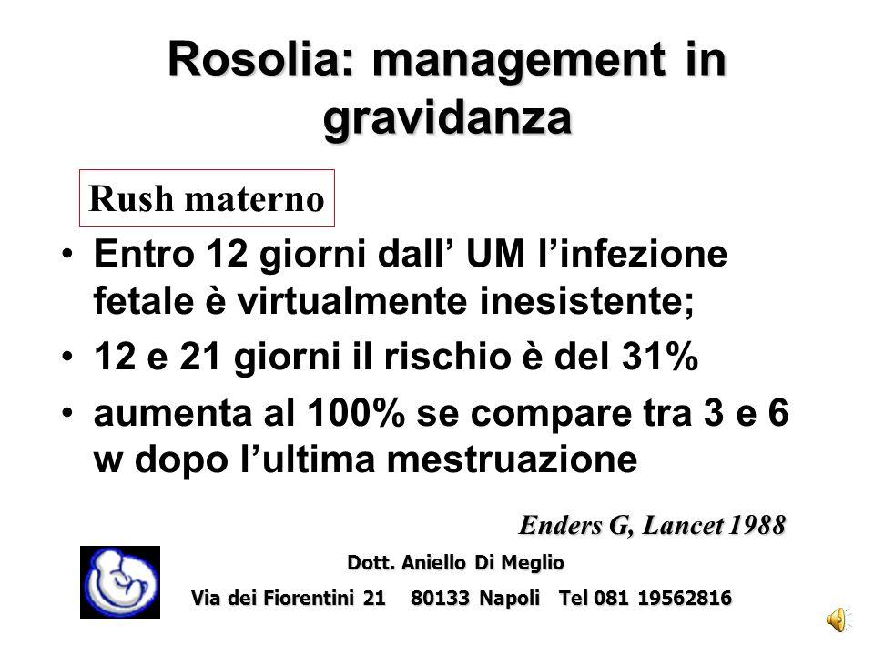 Rosolia: management in gravidanza