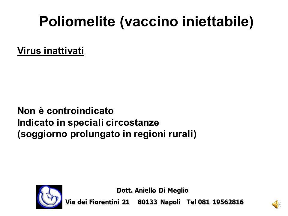 Poliomelite (vaccino iniettabile)