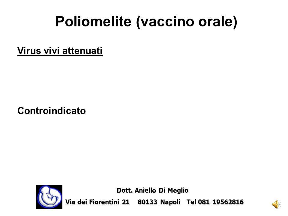 Poliomelite (vaccino orale)