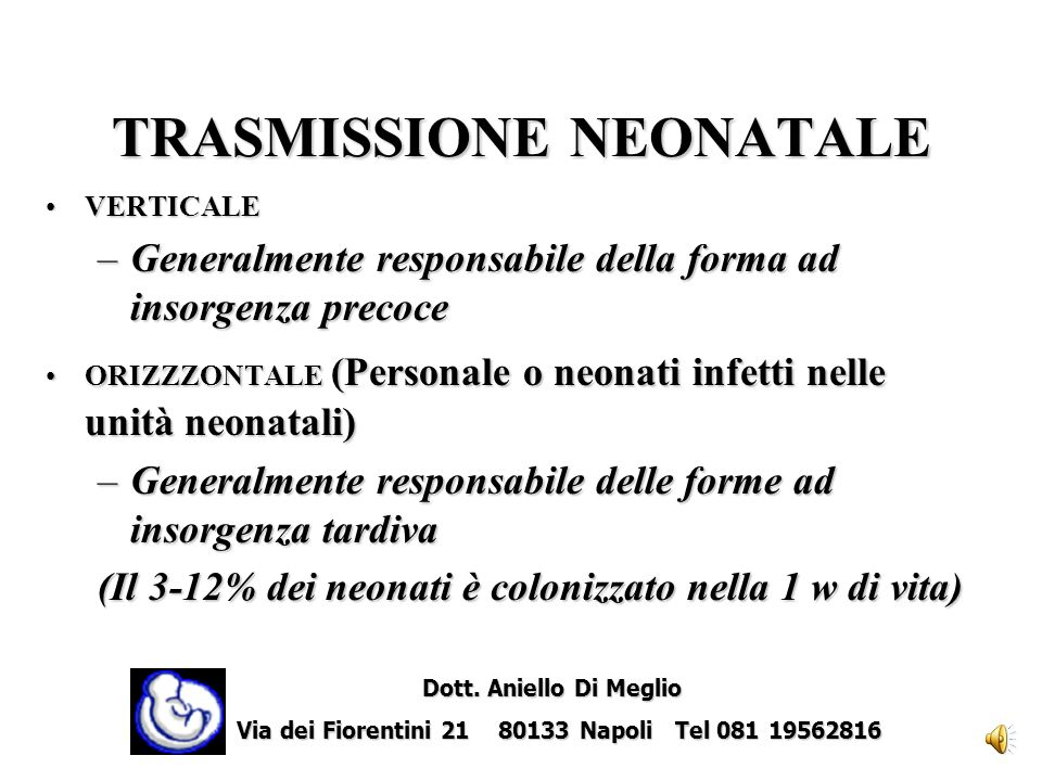 TRASMISSIONE NEONATALE