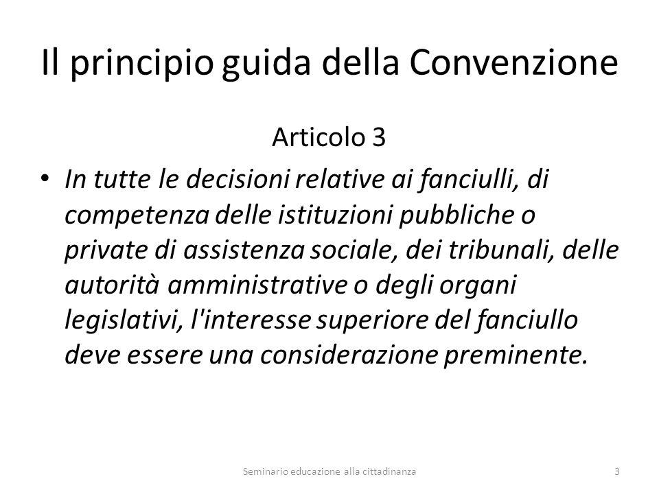 Il principio guida della Convenzione