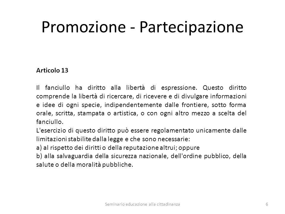 Promozione - Partecipazione