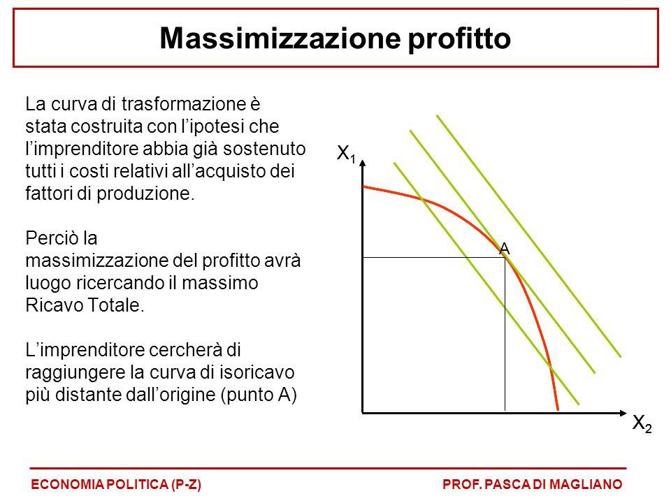Massimizzazione profitto