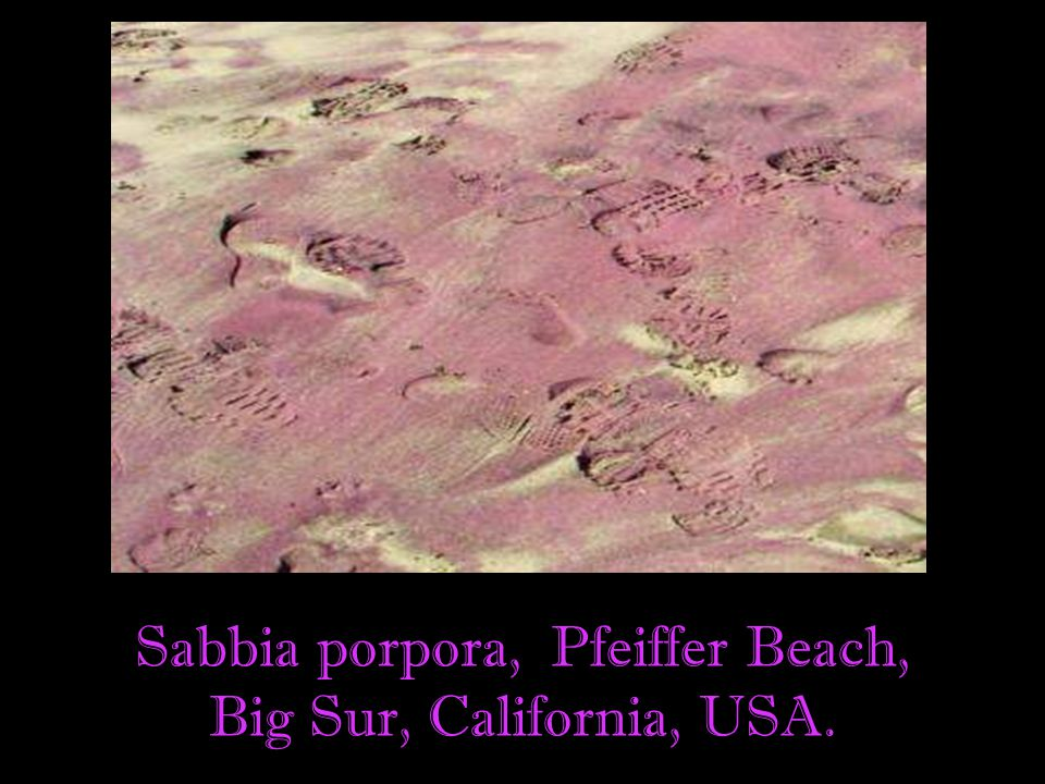 Sabbia porpora, Pfeiffer Beach,