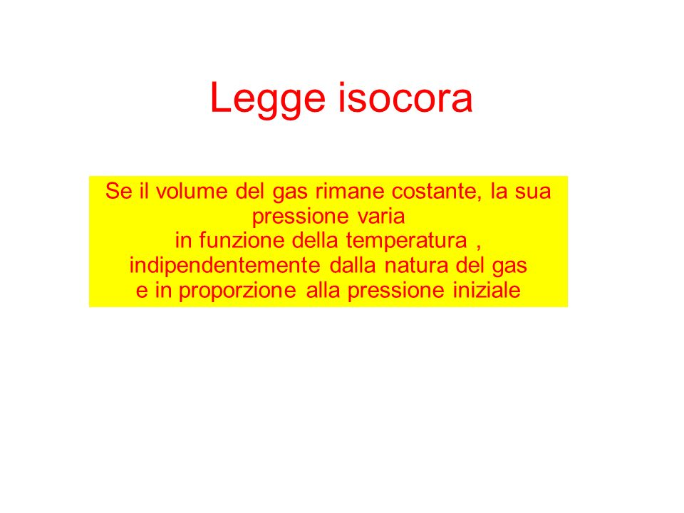 Legge isocora