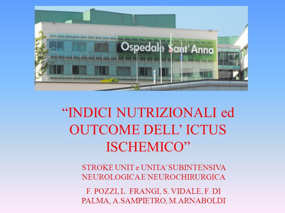 INDICI NUTRIZIONALI ed OUTCOME DELL' ICTUS ISCHEMICO