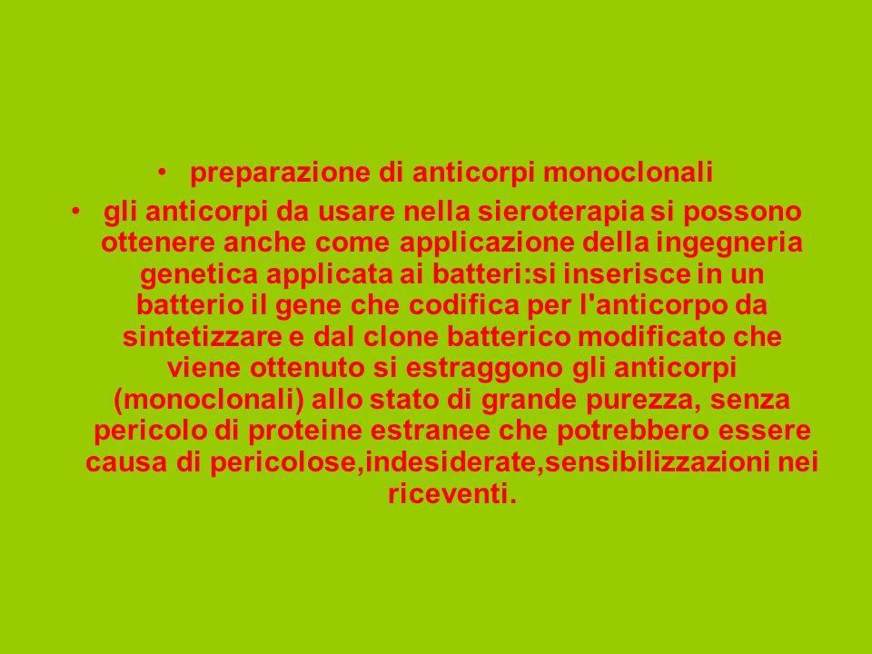 preparazione di anticorpi monoclonali