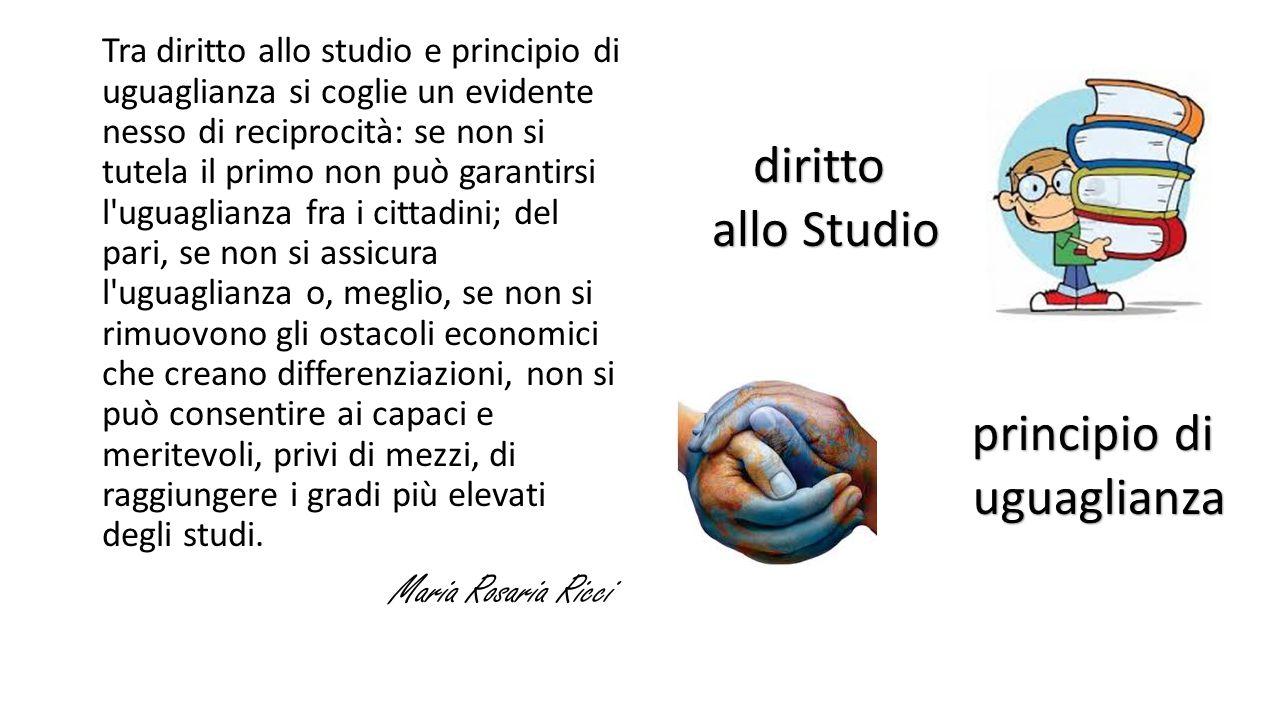 diritto allo Studio principio di uguaglianza Maria Rosaria Ricci