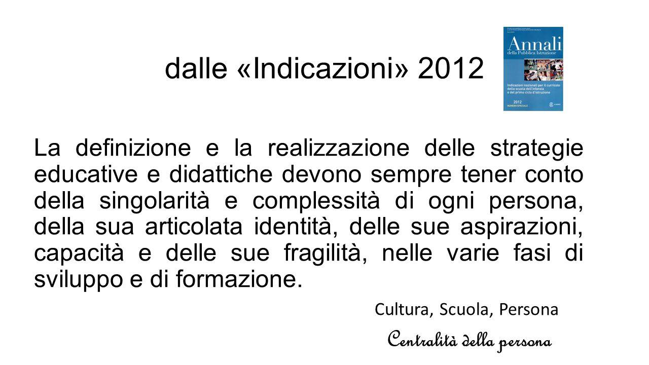 dalle «Indicazioni» 2012