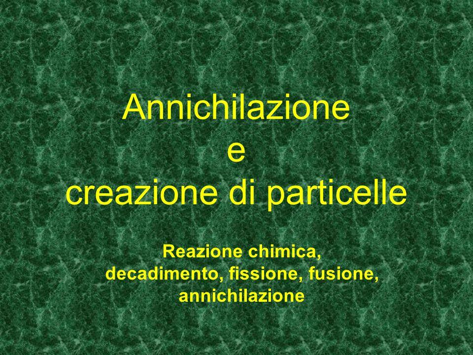 Annichilazione e creazione di particelle