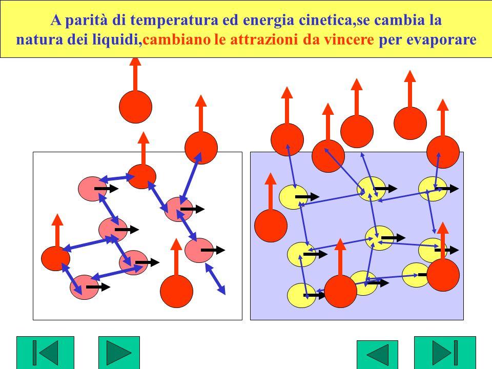 A parità di temperatura ed energia cinetica,se cambia la