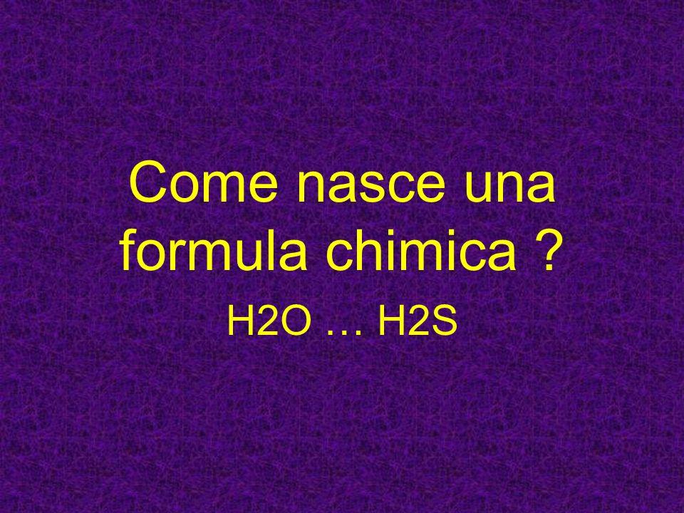 Come nasce una formula chimica