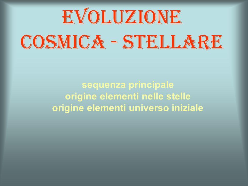 Evoluzione cosmica - stellare