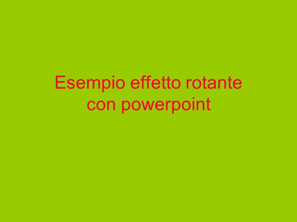 Esempio effetto rotante con powerpoint