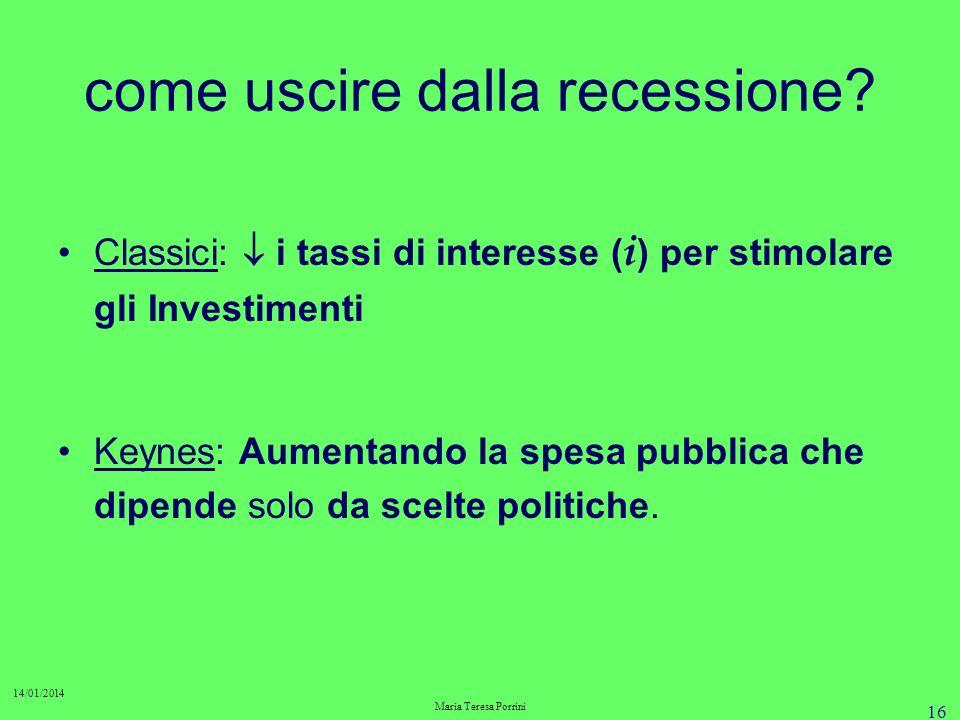 come uscire dalla recessione