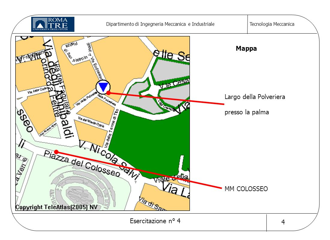 Mappa Largo della Polveriera presso la palma MM COLOSSEO