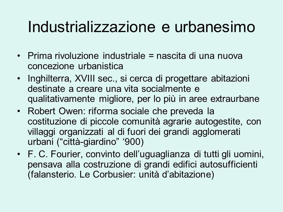 Industrializzazione e urbanesimo