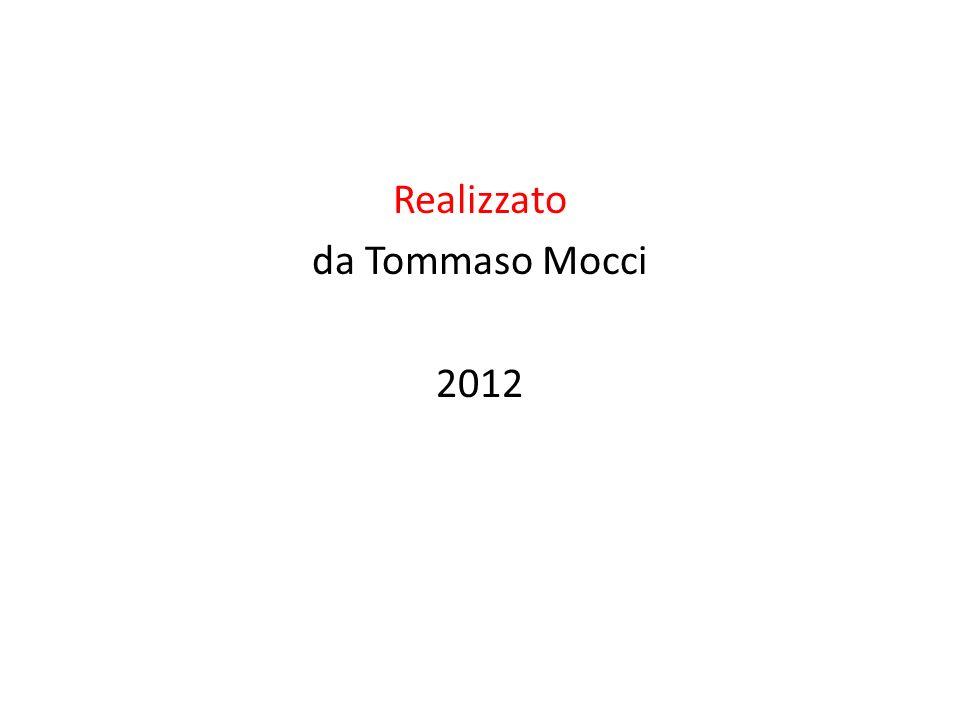 Realizzato da Tommaso Mocci 2012