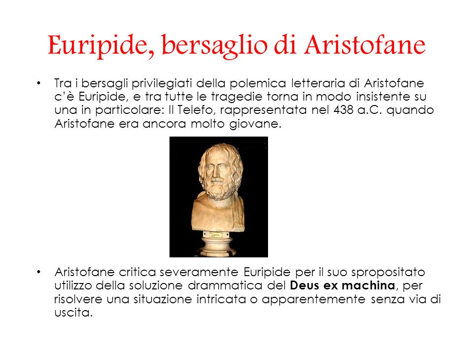 Euripide, bersaglio di Aristofane