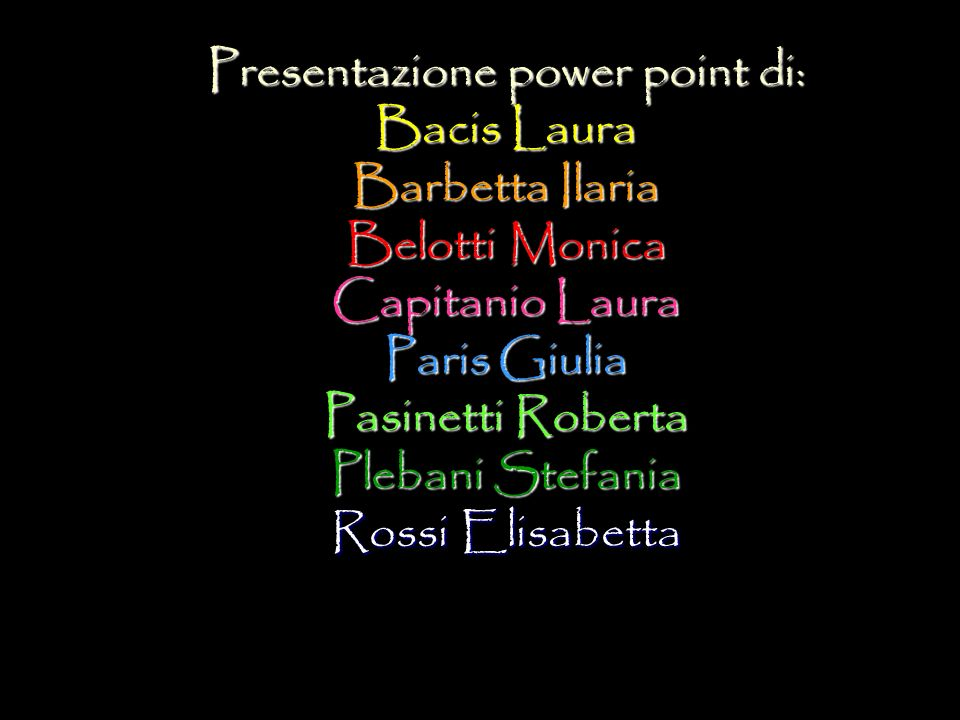 Presentazione power point di: