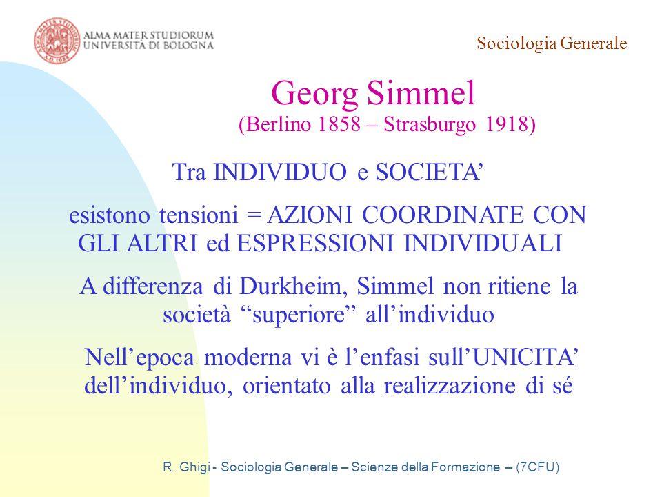 Georg Simmel Tra INDIVIDUO e SOCIETA'