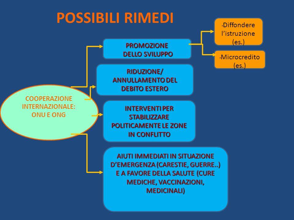 COOPERAZIONE INTERNAZIONALE: ONU E ONG