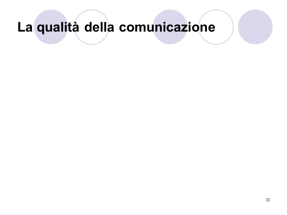 La qualità della comunicazione