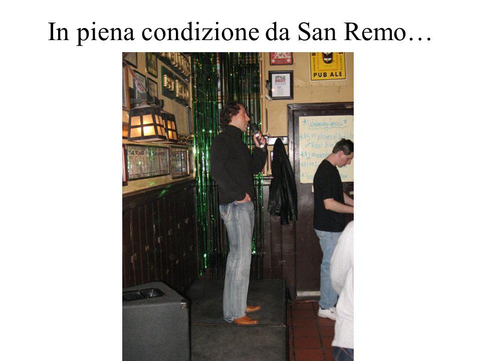 In piena condizione da San Remo…
