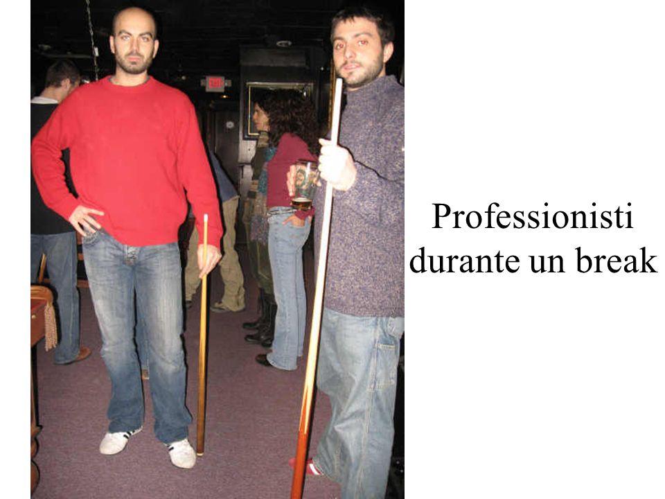 Professionisti durante un break