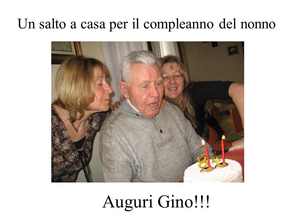 Un salto a casa per il compleanno del nonno
