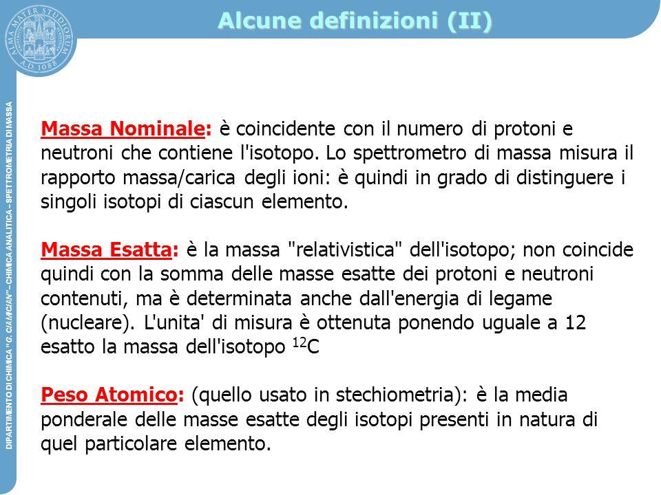 Alcune definizioni (II)
