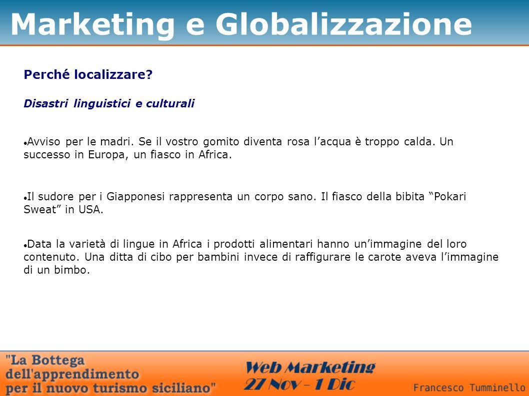 Marketing e Globalizzazione