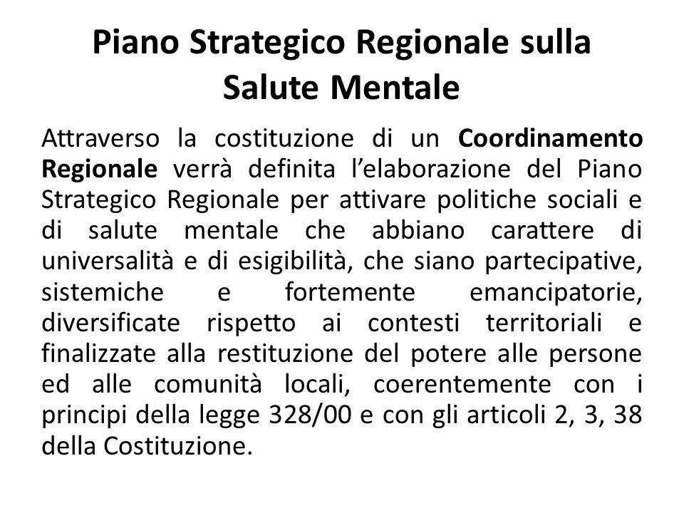 Piano Strategico Regionale sulla Salute Mentale