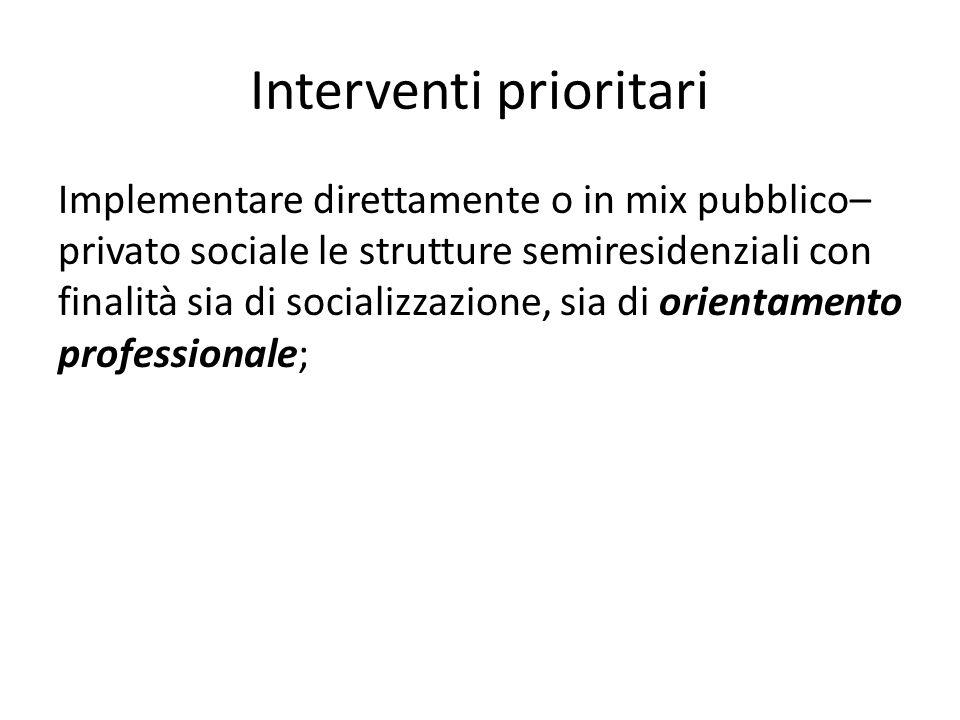 Interventi prioritari