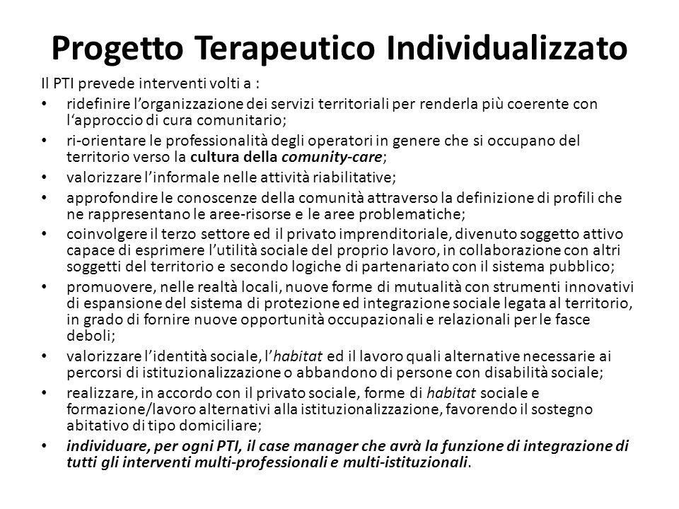 Progetto Terapeutico Individualizzato