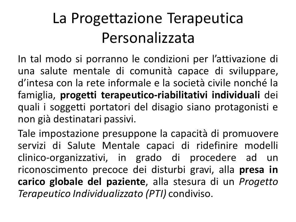 La Progettazione Terapeutica Personalizzata