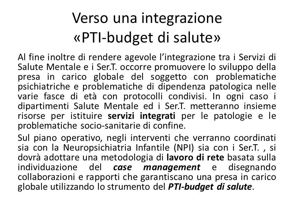 Verso una integrazione «PTI-budget di salute»