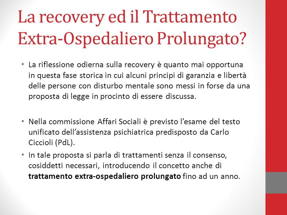 La recovery ed il Trattamento Extra-Ospedaliero Prolungato
