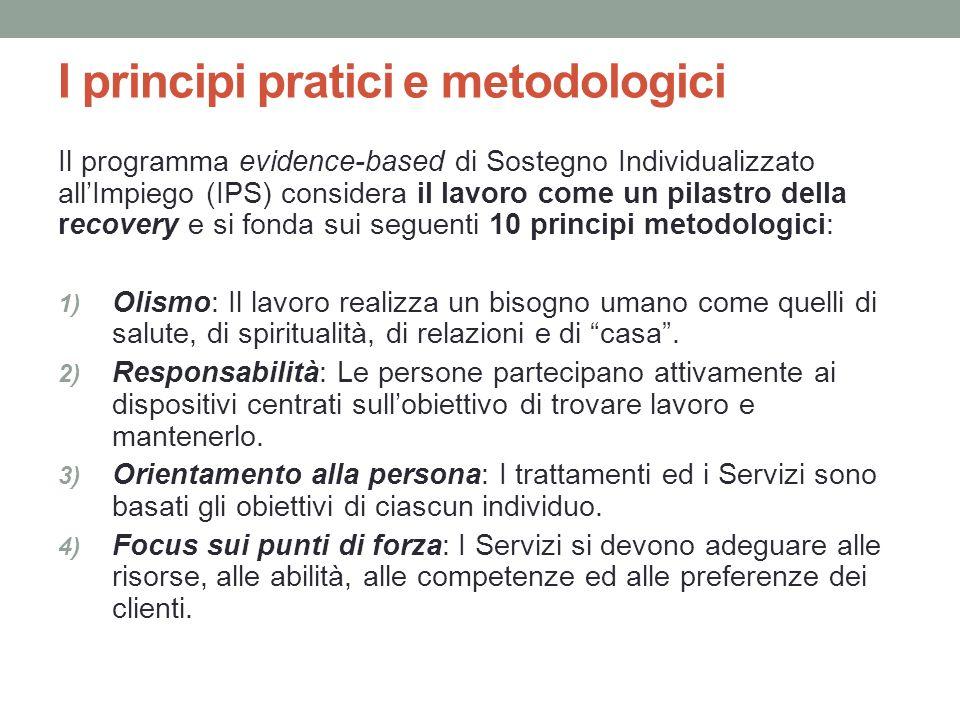 I principi pratici e metodologici