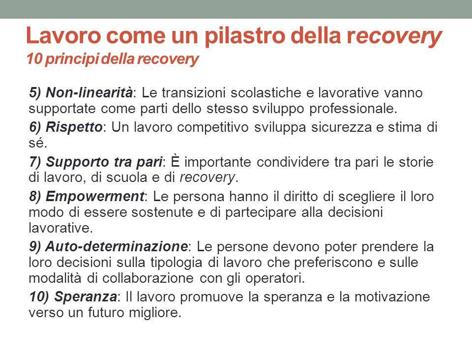 Lavoro come un pilastro della recovery 10 principi della recovery